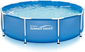 "Summer Waves10'x30""Metal Frame Pool with Skimmer Plus Filter System"
