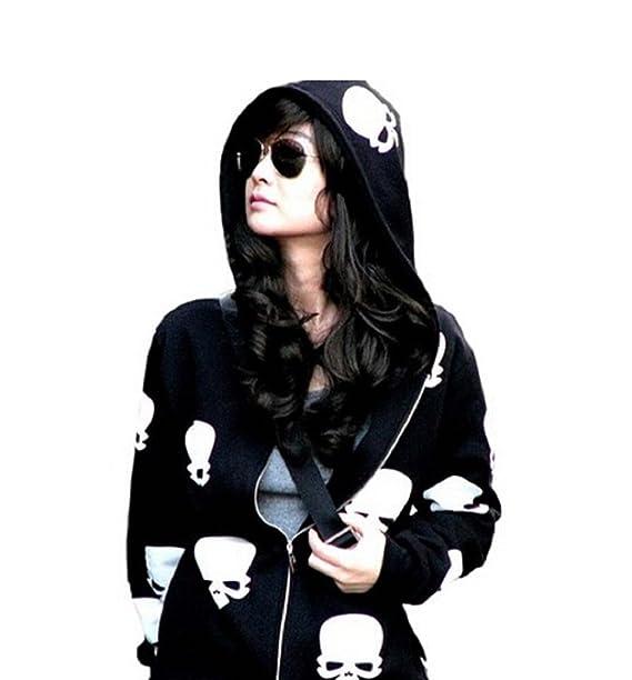 De mujer para senderismo INBDUE calavera abrigos bolsas también con capucha con sudadera para coser chaquetas de mujer cremallera: Amazon.es: Ropa y ...