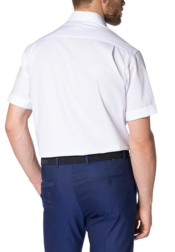 Eterna Chemise à Manches Courtes Comfort FIT Popeline uni: Amazon.fr:  Vêtements et accessoires