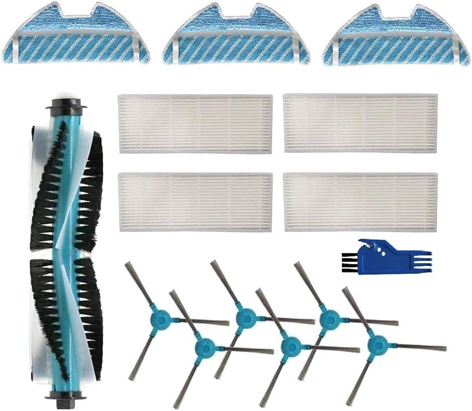 6 Cepillos Laterales 3 Mop 4 Filtros Hepa Huante Accesorio para Cecotec Conga 1490 Robot Aspirador Repuestos Paquete de 1 Cepillo Principal