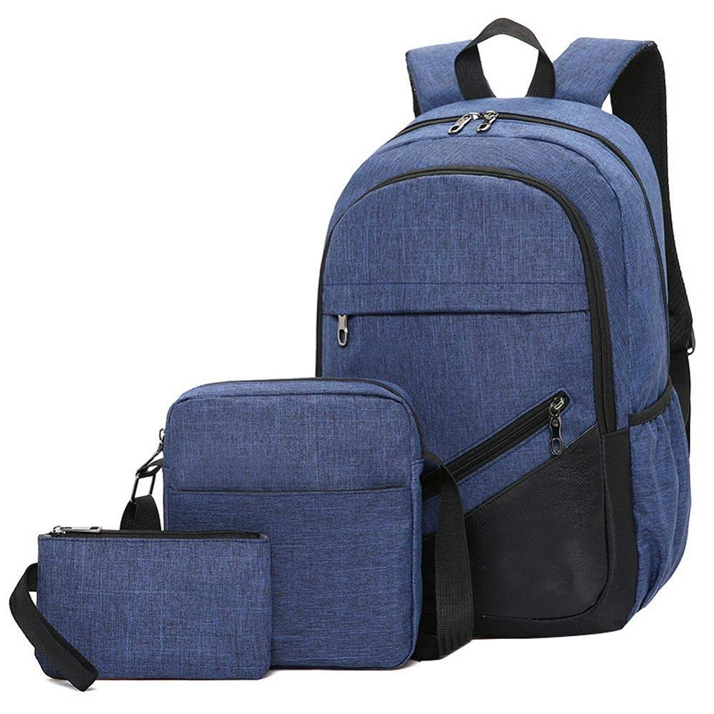 ASHIJIN バックパック3ピースビジネスコンピュータバックパックレジャー旅行バッグ用男性女性女の子学生バックパックバッグバックパック  A B07RJN8VT5