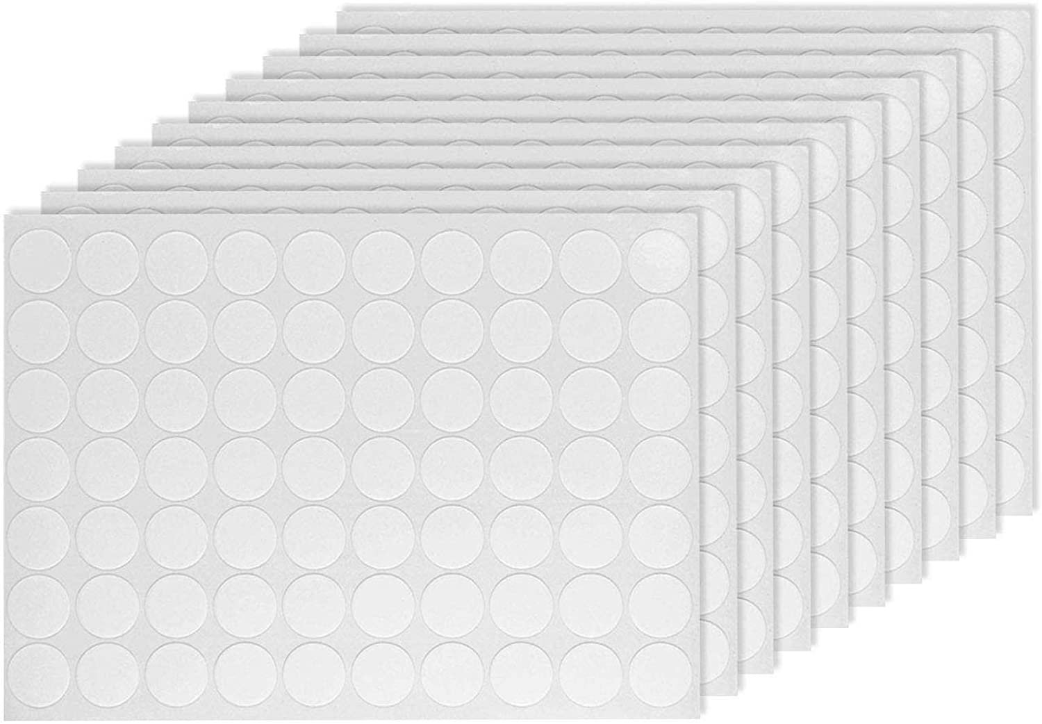 Wall Safe Sticky Putty 700pcs, Clear Round Removable Adhesive Sticky Tack Putty for Hanging Posters Stick Decoration and Fixed Items