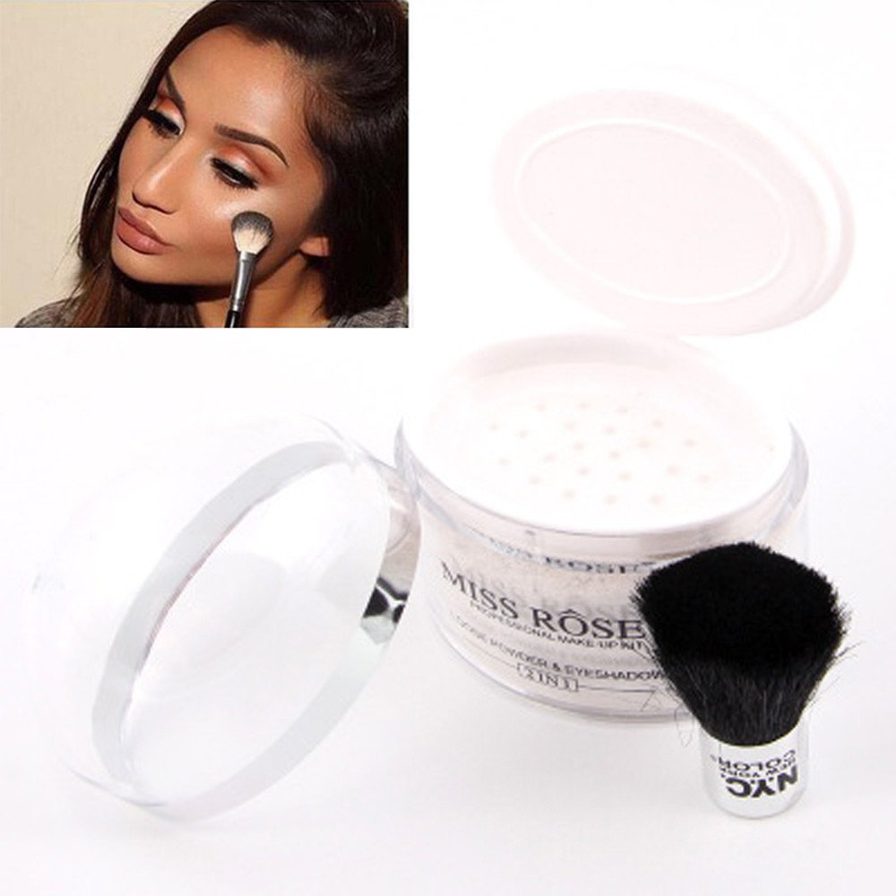LEERYAAY MakeUp Health and Beauty Translucent Face Makeup Smooth Foundation Waterproof Loose Powder Finish Powder