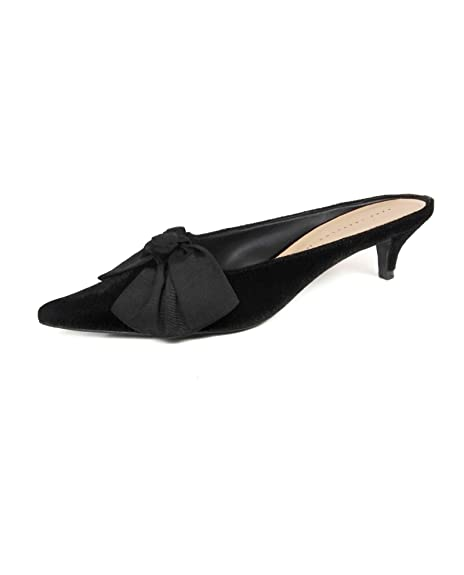 8d0e05372e0 Zara Women Kitten heel mules with bow 7236 201 (37 EU
