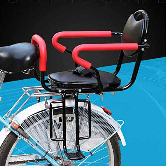 Bike Riding Equipment Seat Sponge Cushion Easy to Installment GFYWZ Mountain Bicycle Rear Seat with Backrest