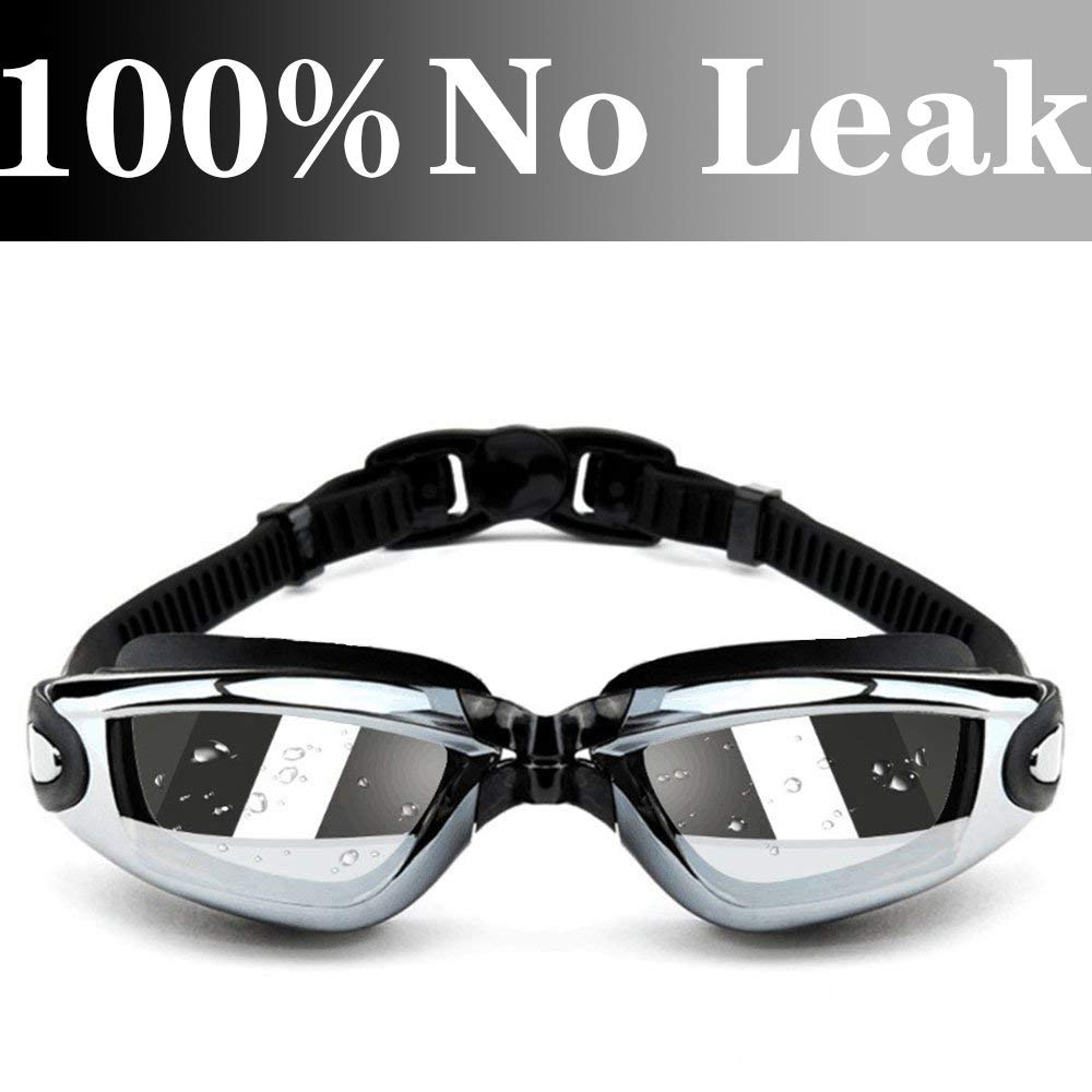 Aquior Swim Goggles, Adjustable Swimming Glass No Leaking Anti Fog UV Protection, 180 Wide View Degree, Pool Goggles for Adult Youth Men Women