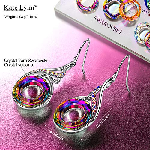 Kate Lynn Christmas Gift for Women Phoenix Earrings for Girls Crystals from Swarovski Earrings for Grandma Birthday Gifts for Mom from Daughter Peacock Gifts for Teen Girls Christmas Present