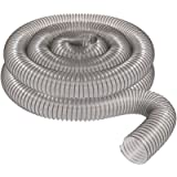 2 1/2' x 20' CLEAR PVC DUST COLLECTION HOSE BY PEACHTREE WOODWORKING PW368