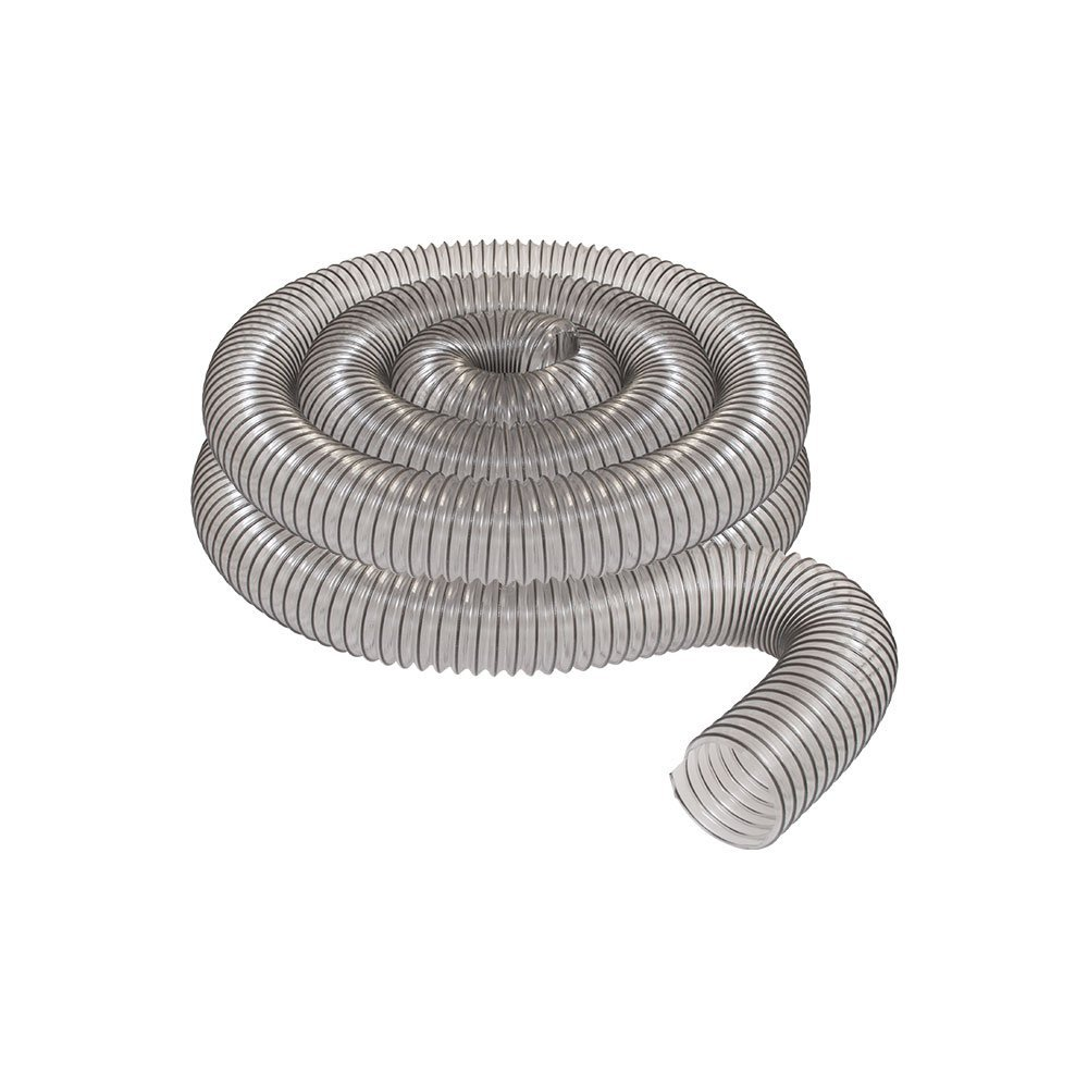 "2 1/2"" x 20' CLEAR PVC DUST COLLECTION HOSE BY PEACHTREE WOODWORKING PW368"