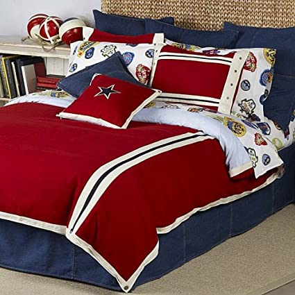807c20e11 Amazon.com: Tommy Hilfiger Duvet Cover, All American Classics Collection,  Full/Queen, Dongel Red(Old Pattern): Home & Kitchen
