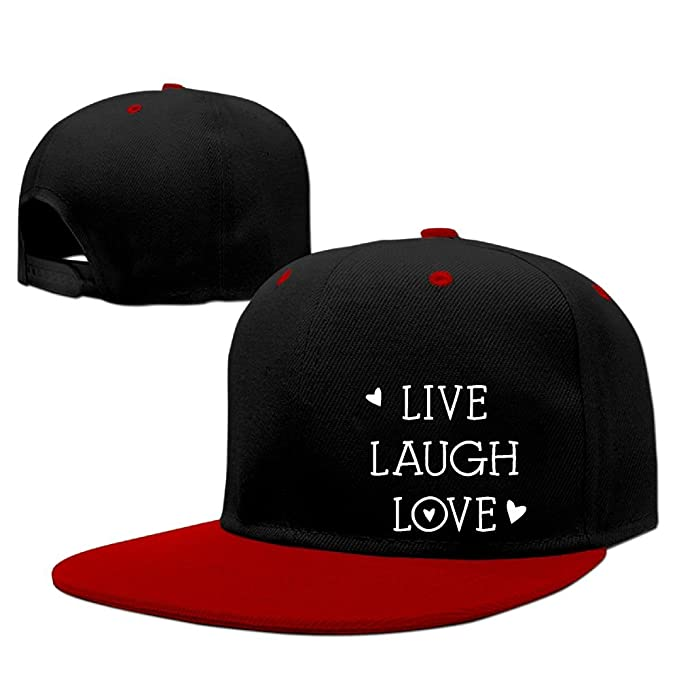 5ec6d5e6060 Hearts Live Laugh Love-1 Unisex Hip Hop Hat Adjustable Back Baseball Caps  for Women Mens at Amazon Men s Clothing store