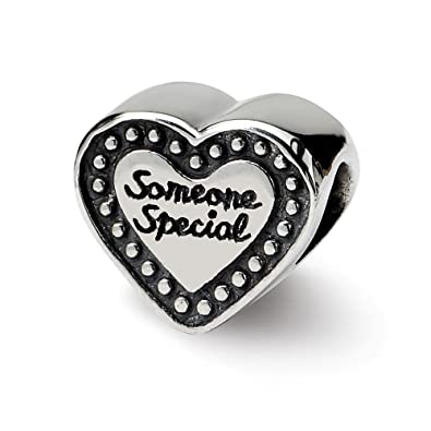 Sterling Silver Jewelry Themed Beads Solid 7.27 mm 9.09 mm Reflections Someone Special Bead