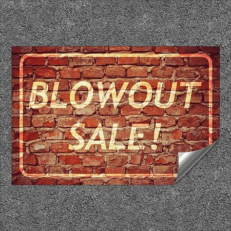 CGSignLab |''Blowout Sale -Ghost Aged Brick'' Heavy-Duty Industrial Self-Adhesive Aluminum Wall Decal | 27''x18''