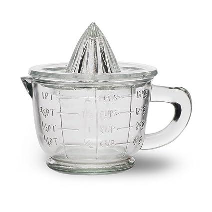 CKB Ltd® Tradicional Vintage exprimidor de Cristal y Jarra de medición – Juego de 1