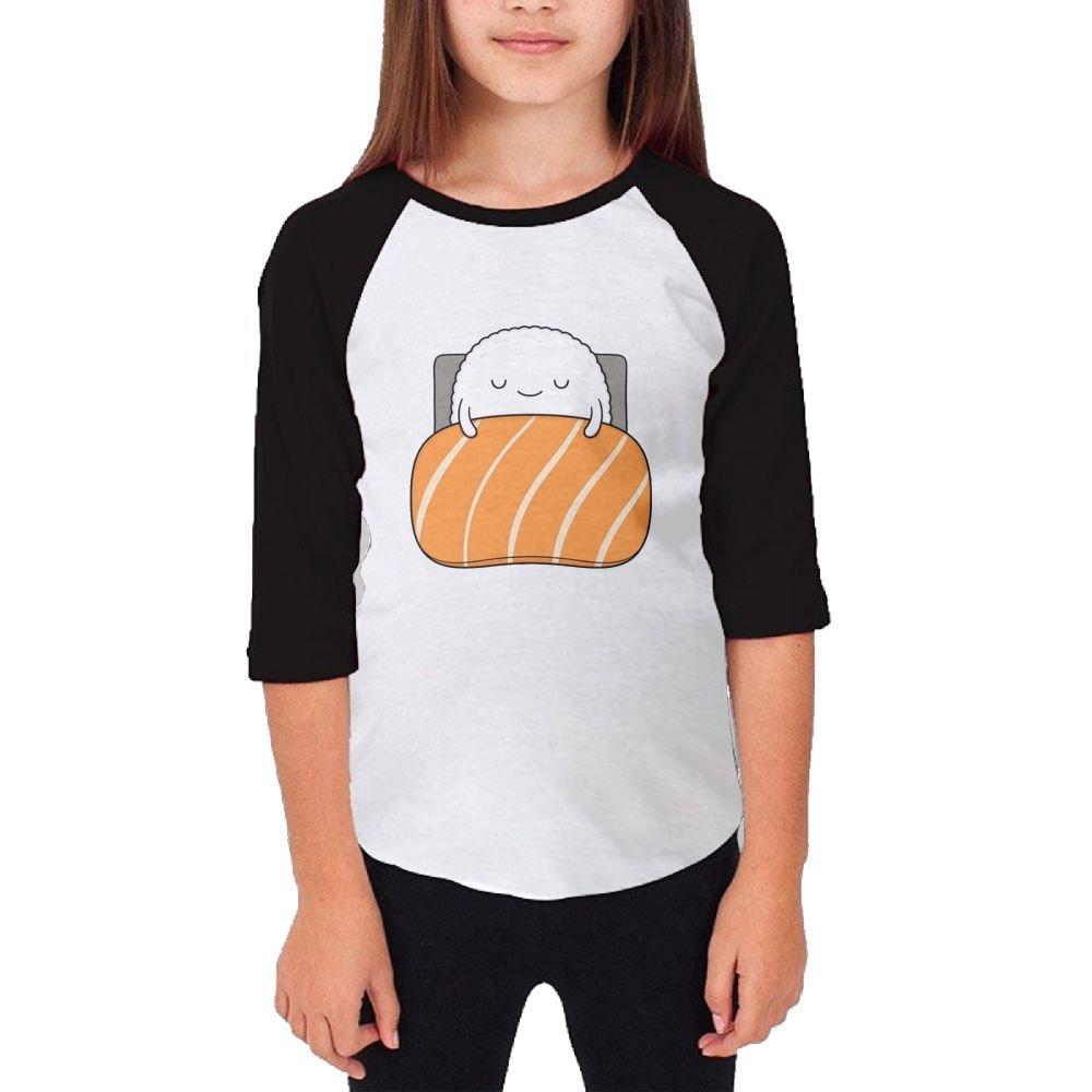 Jidfnjg Be Quiet I Am Sleepy RD Kids 3//4 Sleeves Raglan T Shirts Child Youth Slim Fit Sports Uniforms