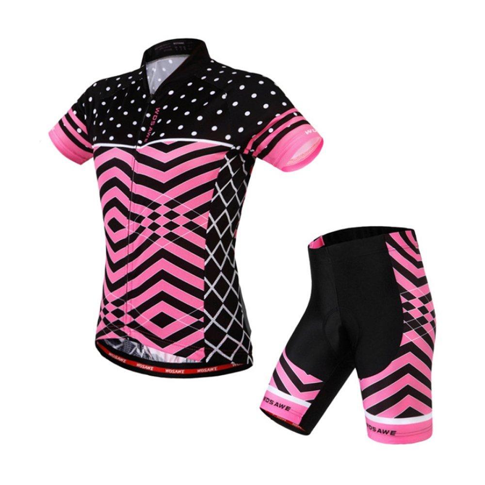 Women's Cycling Jerseys Pink Shirts Jacket Maillot Bicycle Racing Short Sleeves Suit Aogda Ladies Cycling Clothing