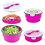 Smart Planet Eco Collapsible Salad Bowl, 64 oz, Pink