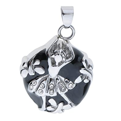 pendant memorial angel cat ash