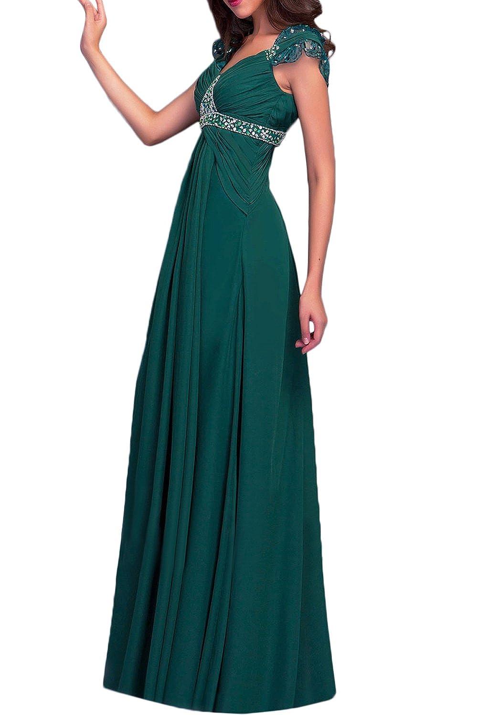 Promgirl House Damen Romantisch Klassisch Traeger A-Linie Chiffon Lang  Abendkleider Hochzeitskleider Brautmutterkleider: Amazon.de: Bekleidung