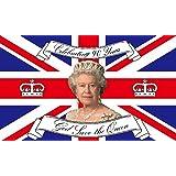 GIZZY® Reine Elizabeth 90ème anniversaire Commémorative 5'x 3' Flag