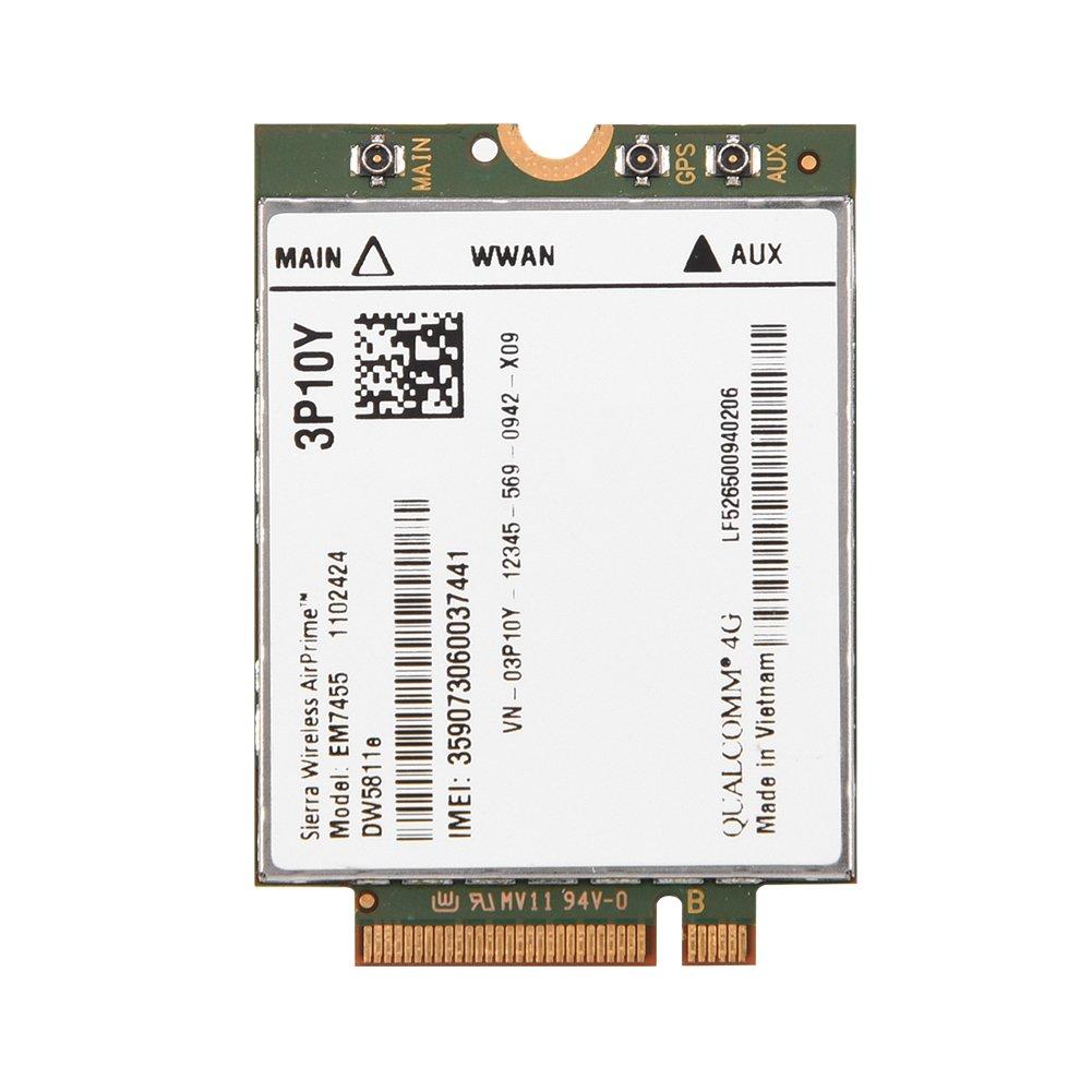 Topiky M/ódulo 4G LTE inal/ámbrico reemplazo EM7455 inal/ámbrico para DELL DW5811e 3P10Y Qualcomm 4G LTE WWAN NGFF M/ódulo de Tarjetas de Red