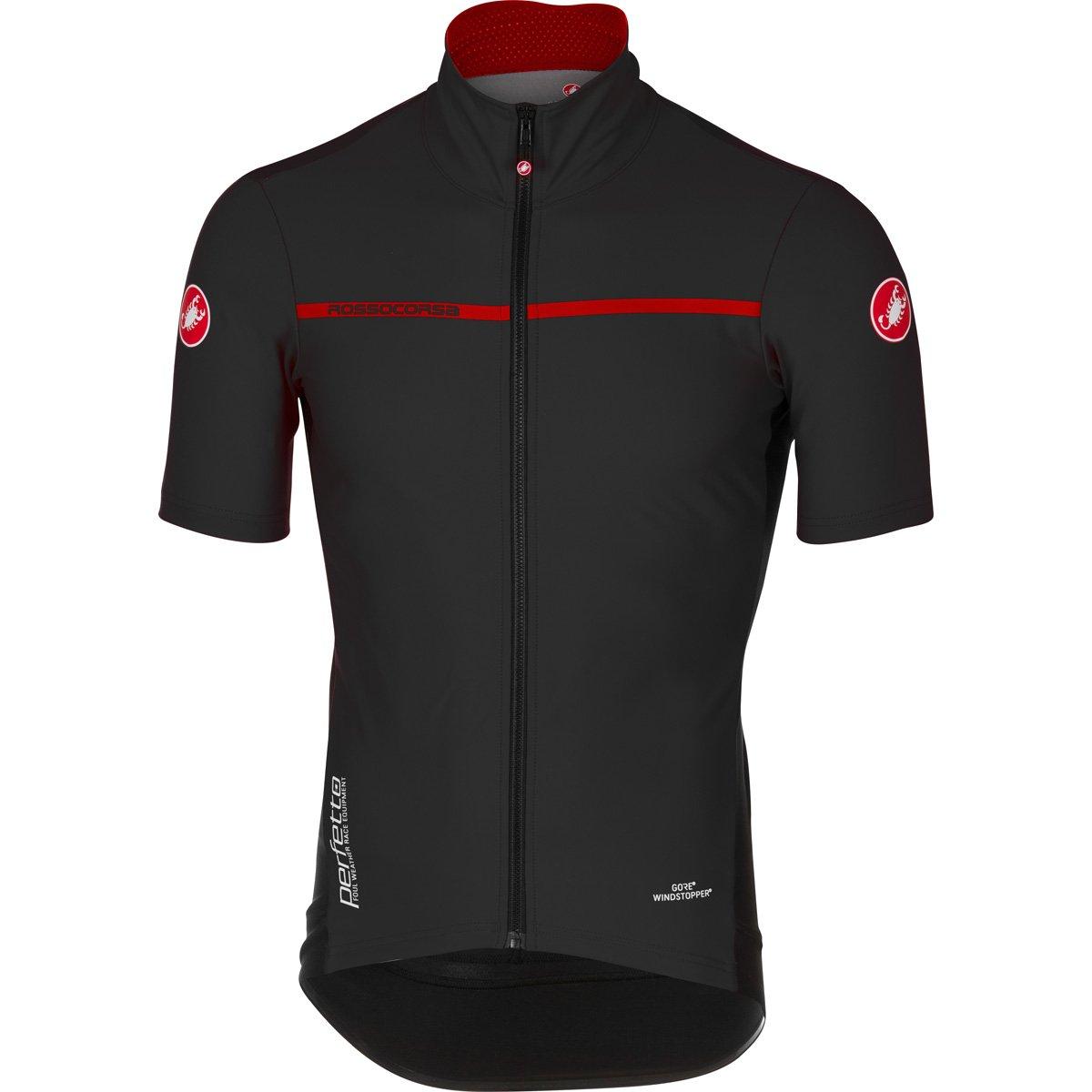 Castelli 2017 メンズ Perfetto 軽量半袖サイクリングジャケット B17085 B06VVRXS99 XXX-Large|ブラック ブラック XXX-Large