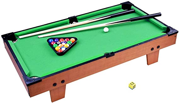 Mini Pool Table - Mesa de Billar con Bolas y Accesorios para Niños ...