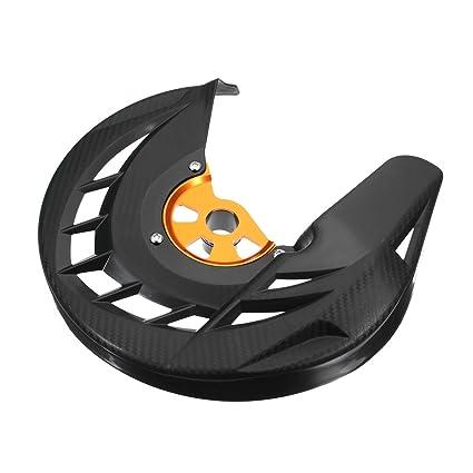 GOZAR Moto Freno Delantero Disco Rotor Protector Cubierta Protector Negro para KTM 125-530 Sx