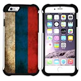 Graphic4You Vintage Russian Flag of Russia Design Armor Protector Tough Rugged Durable Hybrid Soft Hard Case Cover for Apple iPhone 6 Plus / 6S Plus