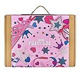 jackinthebox Princess 3-in-1Craft Kit para las niñas: Regalo para 5años y hasta: contiene una princesa Cape, tiara, varita y