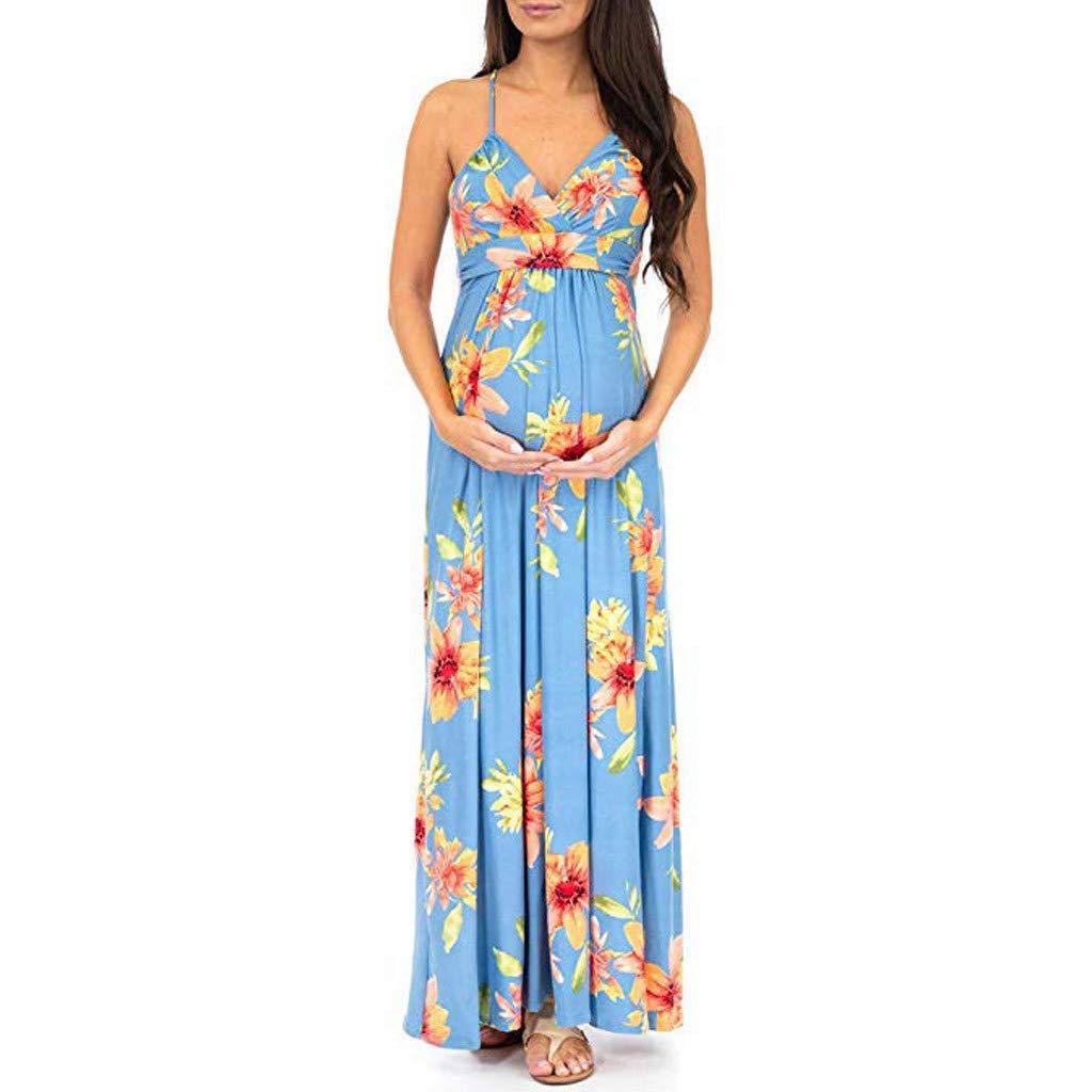 Juliyues - Vestido largo para mujer, estampado de flores ...