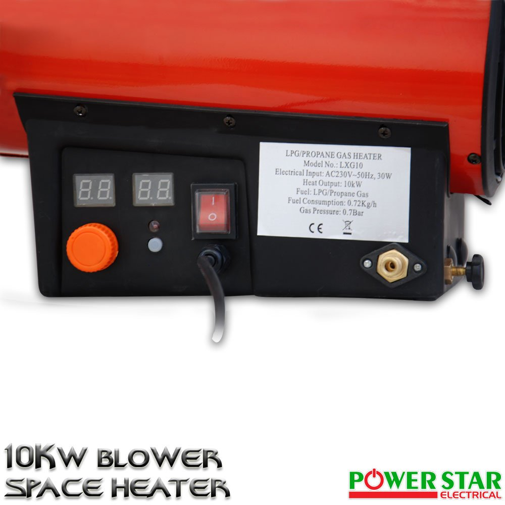 10kw Gas Portátil TALLER comercial Obligado Licuado de petróleo (LPG) Industrial Calentador Calefacción: Amazon.es: Bricolaje y herramientas