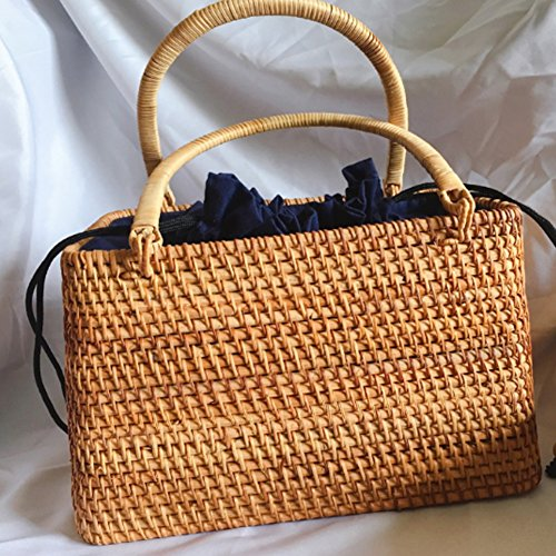 Viaggi E Di Quotidiano I YJIUJIU Straw Paglia L'uso Per Handbag Spiaggia Womens In 0vOv7WT