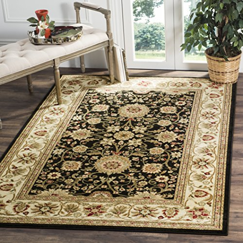 Safavieh Lyndhurst Collection LNH212A Traditional Oriental Black and Ivory Area Rug 4 x 6