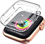 LELONG Case for Apple Watch Series SE/6/5/4/3/2 Screen Protector 38mm 42mm