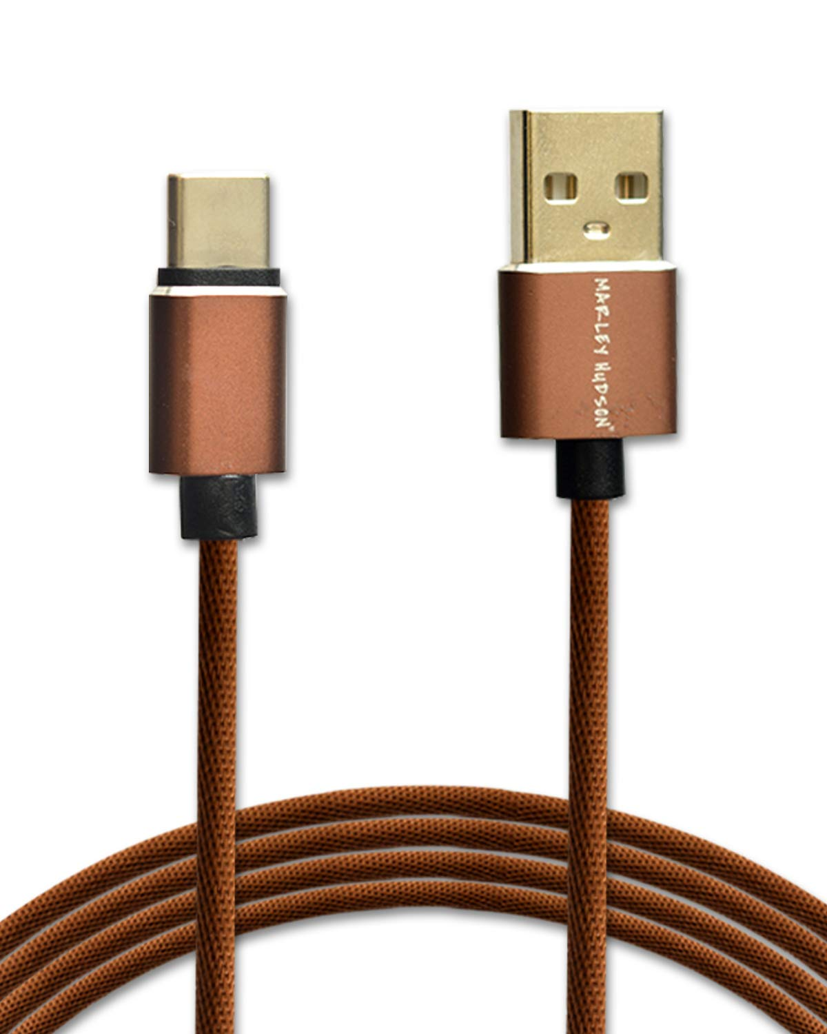 Marley Hudson USB Type-C to USB-A 2.0 Male Data Cable - Caramel Brown