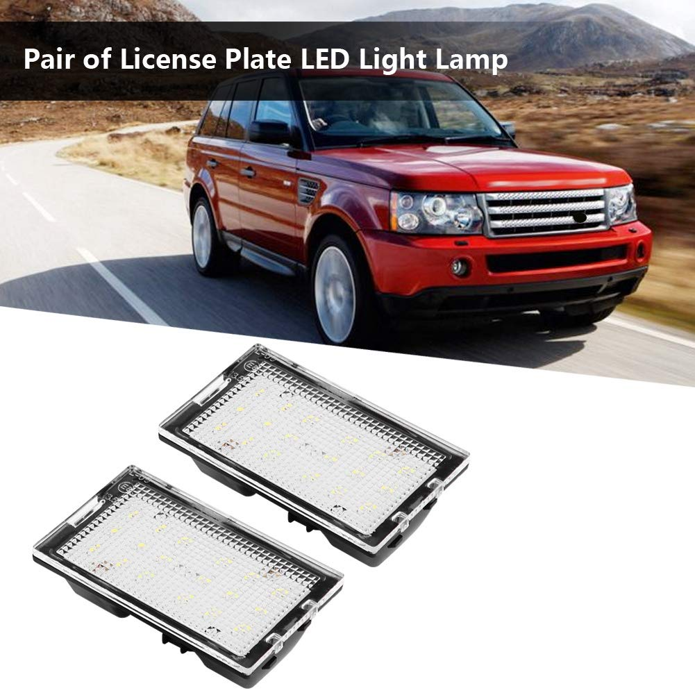 Yctze Luce targa 2 pezzi lampada 12V 12 LED in plastica LED senza luce targa per L320 2005-2013