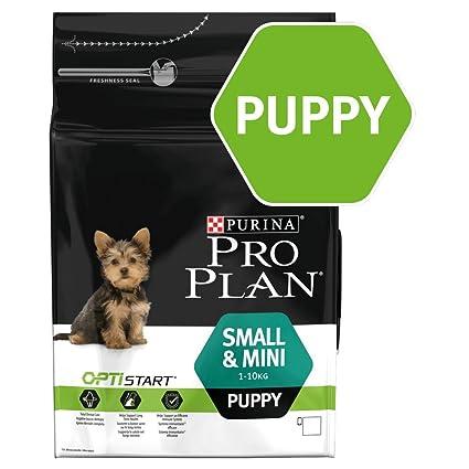 Purina Pro Plan Comida Seco para Cachorros Pequeños y Mini con Optistart, Sabor Pollo -