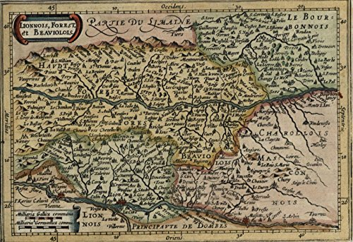 Old Detailed Colored Antique Map - 3