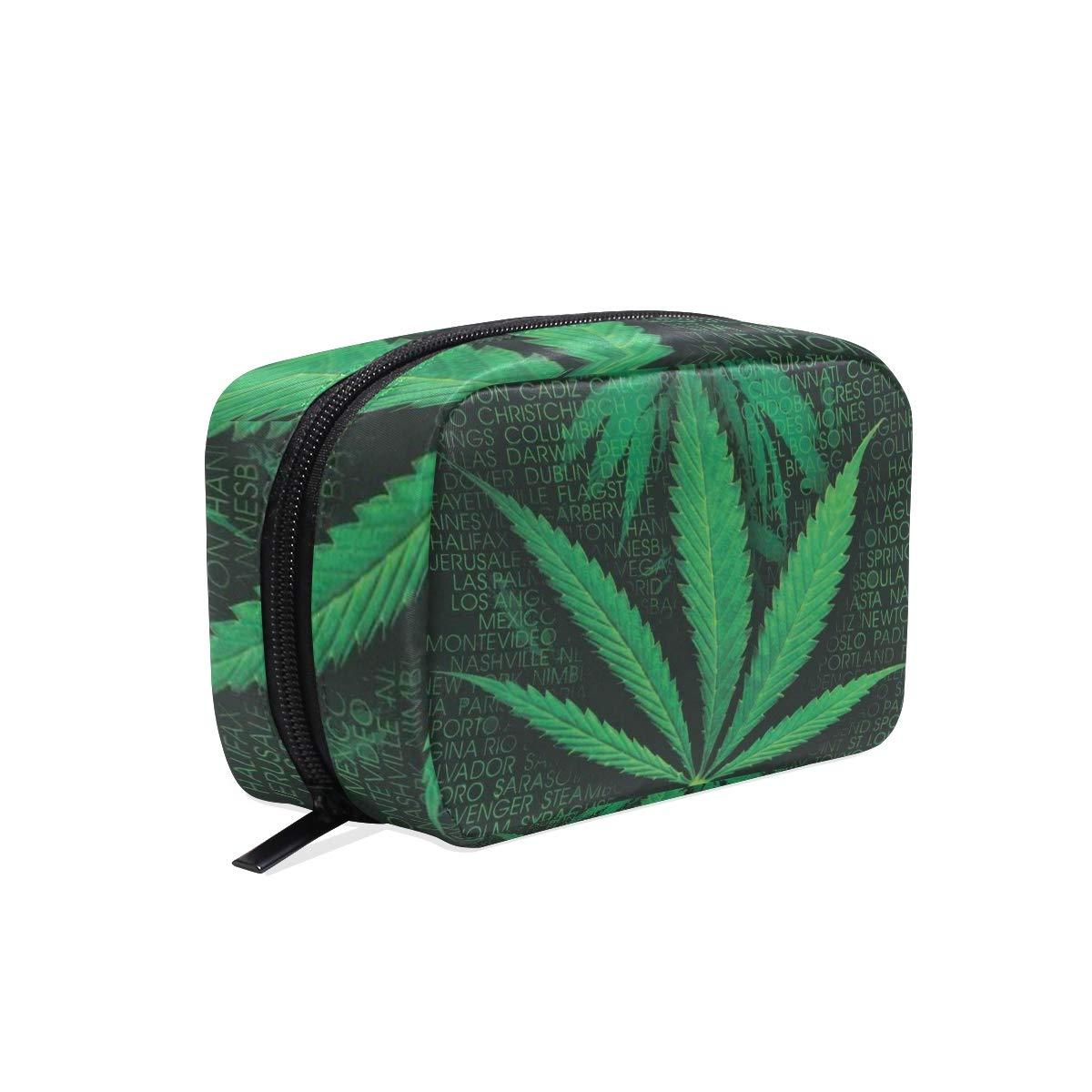 Bag  Pot Leaf  Marijuana  Hemp  Hair Tie  Cannabis  Makeup  420