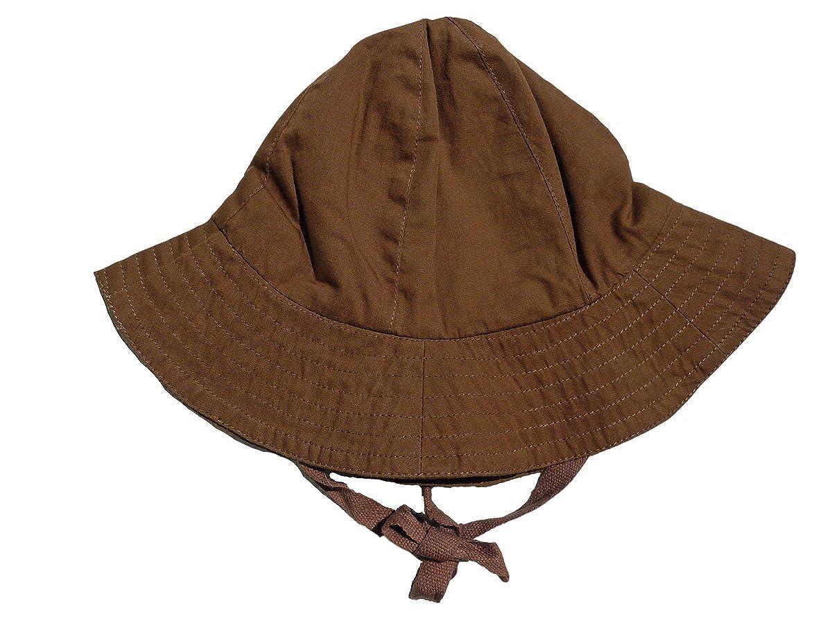 3-12 months, Chocolate Organic Cotton Baby Sun Hat