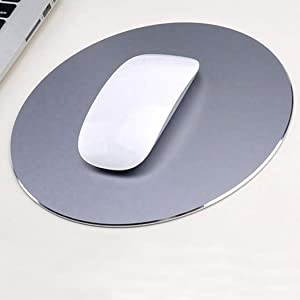 Mouse Pad Aluminum Mouse Pad. Non-Slip Aluminium Alloy Surface for Fast and Accurate Control Rubber Gaming Mouse Pad (Fashion Grey)