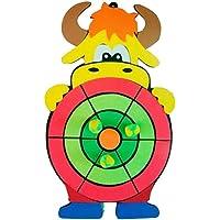 Dartboard para niños Juguete Dibujos animados Tablero de dardos Conjunto,OX