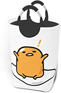 Liverpoolcoolspace Laundry hampers for Bedroom Dirty Clothes Pack Lazy Egg Gudetama Sanrio Collapsible Fabric Laundry Hamper, Foldable Clothes Bag, Folding Washing Bin 12.6X22.7 Inch