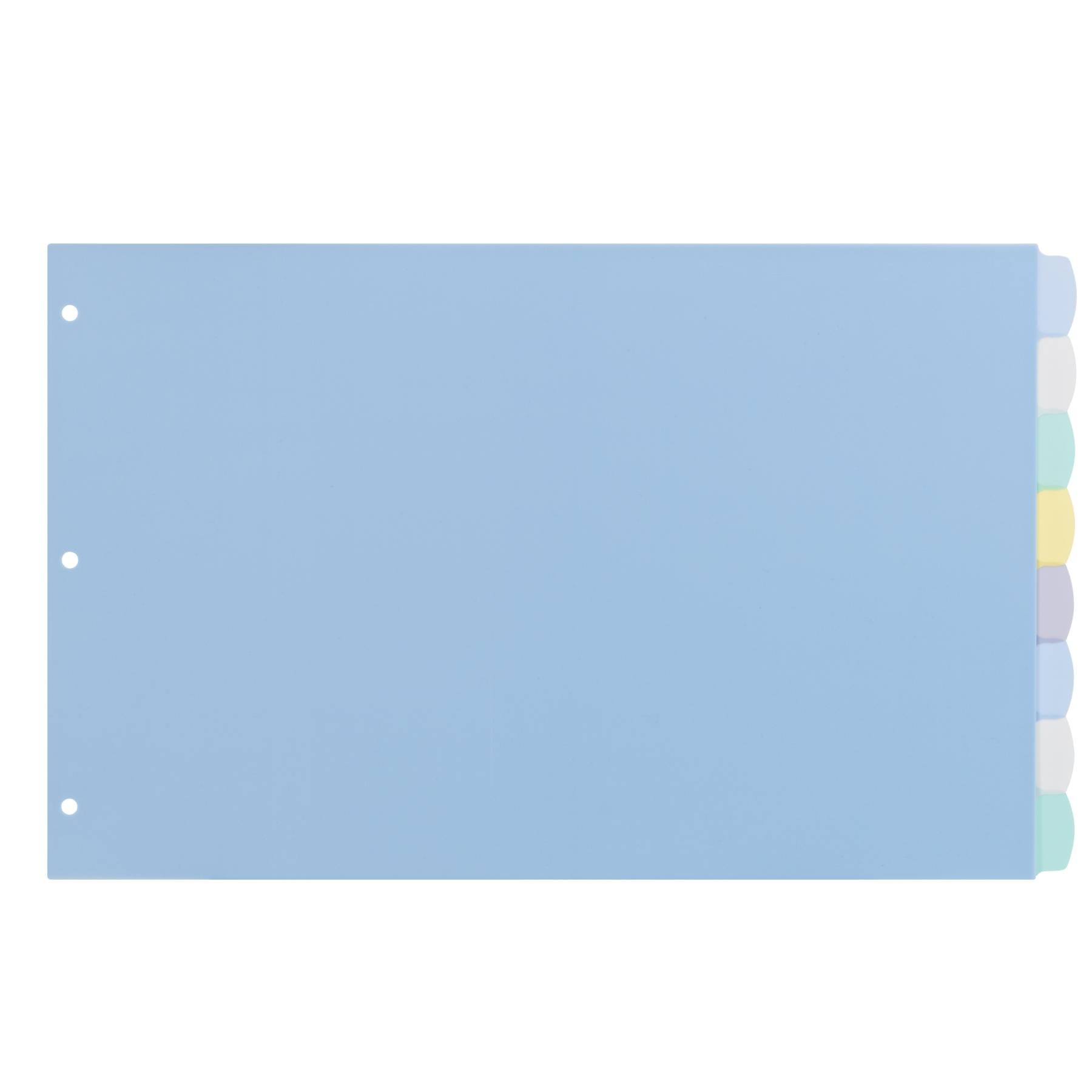 Avery Translucent Durable Write-On Dividers, 11 x 17 inches, 8 Tab, Multi-Color Tab, Not Printer Compatible (16132)