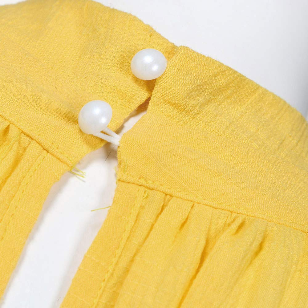 XuxMim Frauen Kleid festlich Irregular Dress Kleid Sommer Damen Strand /ärmelloses Party Dress Hippie Kleid