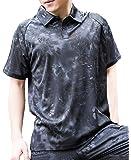 (ガンフリーク) GUN FREAK タクティカル ポロシャツ コンバット 半袖 ハニカム 迷彩 サバゲー ミリタリー (タイフォン ブラック, XXL)
