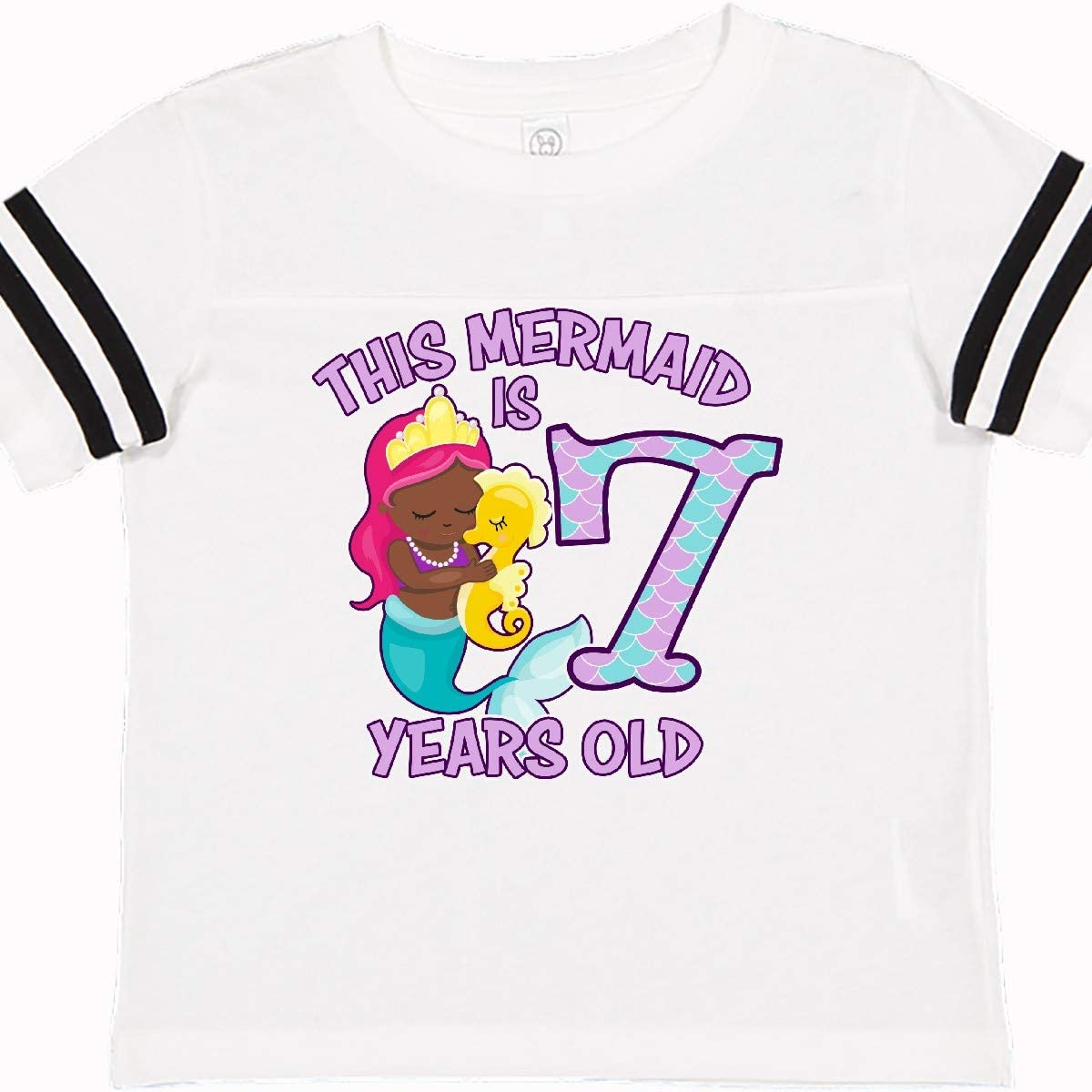 inktastic This Mermaid is 7 Years Old Toddler T-Shirt