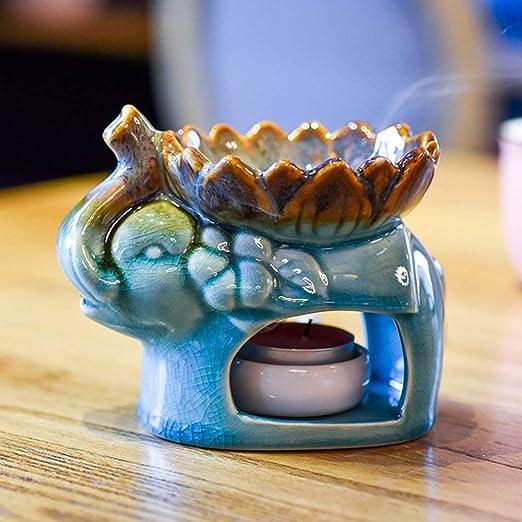 DaTun648 Horno de aromaterapia de cerámica Creativa Lámpara de ...