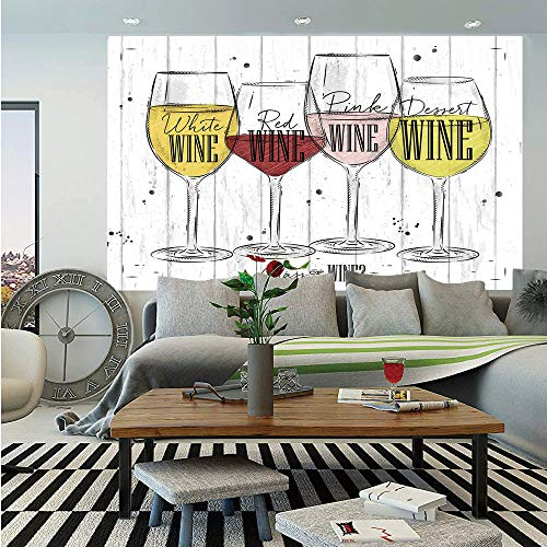SoSung Wine Wall Mural,Four Main Types of Wine
